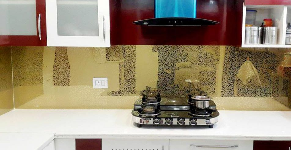 Stainless steel Kitchen backsplash cladding